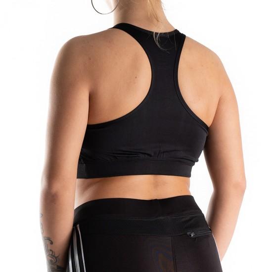 Bustiera Fitness Sport Pentru Sala Negra Energy