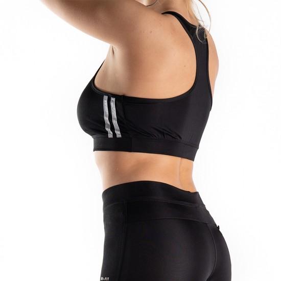 Bustiera Fitness Sport Pentru Sala Negra Alfa