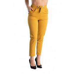 Pantaloni Dama Galben Mustar Meaghan