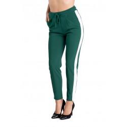 Pantaloni Dama Verzi cu Vipuca Alba Roberta