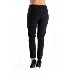 Pantaloni Dama Negri cu Picatele Albe Freedom
