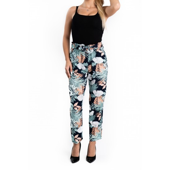 mai tarziu cumpăra bine oficial Pantaloni Dama Masura Mare cu Imprimeu Floral Sofi