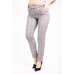 Pantaloni eleganti dama Nova gri carouri