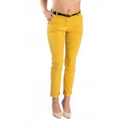 Pantaloni Dama Eleganti Caroline Galben Mustar