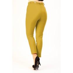 Pantaloni Dama Galben Mustar Office Athena