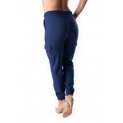 Pantaloni Dama Cargo Albastri