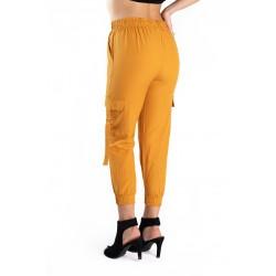 Pantaloni Dama Cargo Galbeni