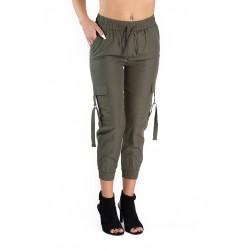 Pantaloni Dama Cargo Caki