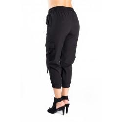 Pantaloni Dama Cargo Negru