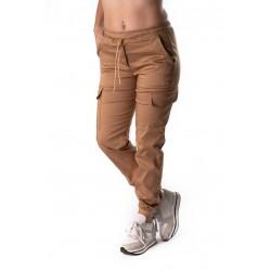 Pantaloni Dama Cargo Crem