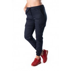 Pantaloni Dama Cargo Bleumarin
