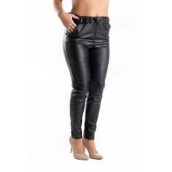 Pantaloni Dama Piele Eco Masura Mare Addy Vatuiti
