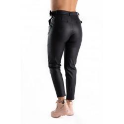Pantaloni Imitatie Piele Negri Maya