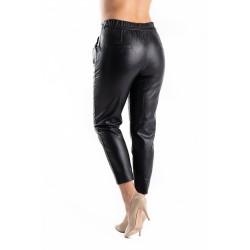 Pantaloni Dama Piele Eco Negri Stella