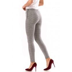 Pantaloni Dama  in carouri Negru Si Alb