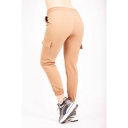 Pantaloni Dama Crem Cargo