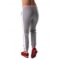 Pantaloni Trening Gri Cu Dungi Roz Si Albe Noisy