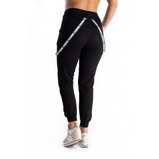 Pantaloni cu Bretele Dama Negru Brielle
